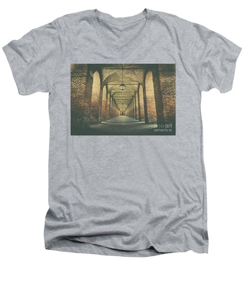 Columns In Sabbionetta, Italy Men's V-Neck T-Shirt