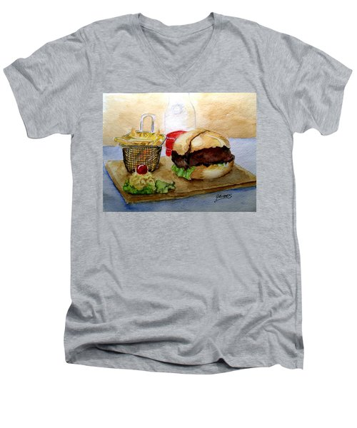 Come And Get It Dinner Is Ready Men's V-Neck T-Shirt by Carol Grimes