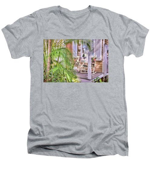 Come And Sit Awhile Men's V-Neck T-Shirt