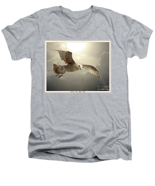 Come Fly With Me Men's V-Neck T-Shirt by Mariarosa Rockefeller
