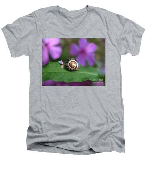 Come Out Of Your Shell Men's V-Neck T-Shirt by Susan Dimitrakopoulos