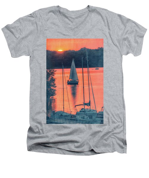 Come Sail Away Men's V-Neck T-Shirt by Pamela Williams