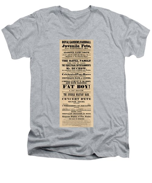 Come See The Fat Boy Men's V-Neck T-Shirt