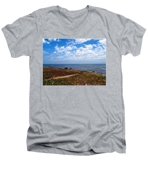Men's V-Neck T-Shirt featuring the photograph Come Sit With Me by Joyce Dickens