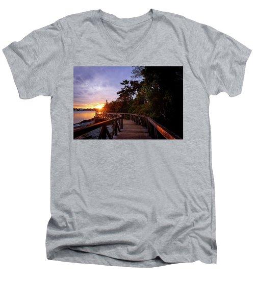 Come Walk With Me Men's V-Neck T-Shirt