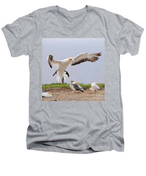 Coming In To Land Men's V-Neck T-Shirt