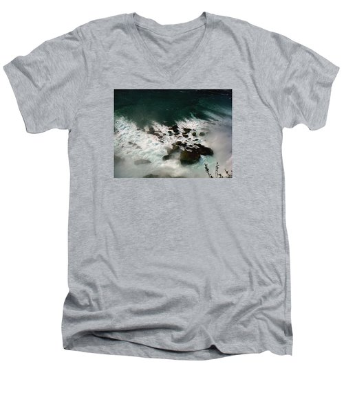 Men's V-Neck T-Shirt featuring the photograph Coming Out by Harsh Malik