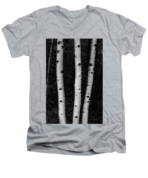 Men's V-Neck T-Shirt featuring the photograph Coming Out Of Darkness by James BO Insogna