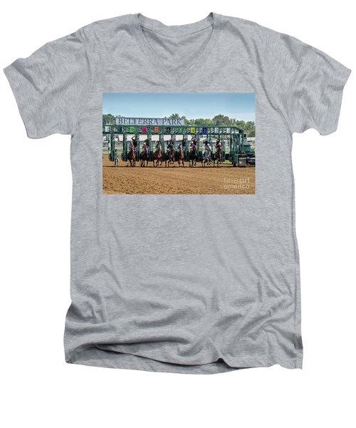 Coming Out Of The Gate Men's V-Neck T-Shirt