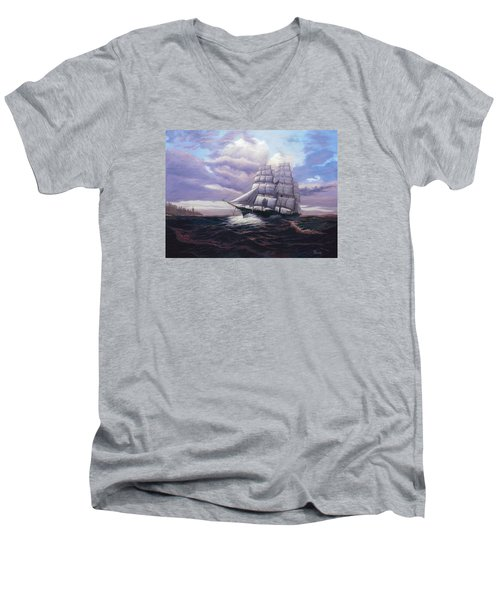 Coming Through The Storm Men's V-Neck T-Shirt