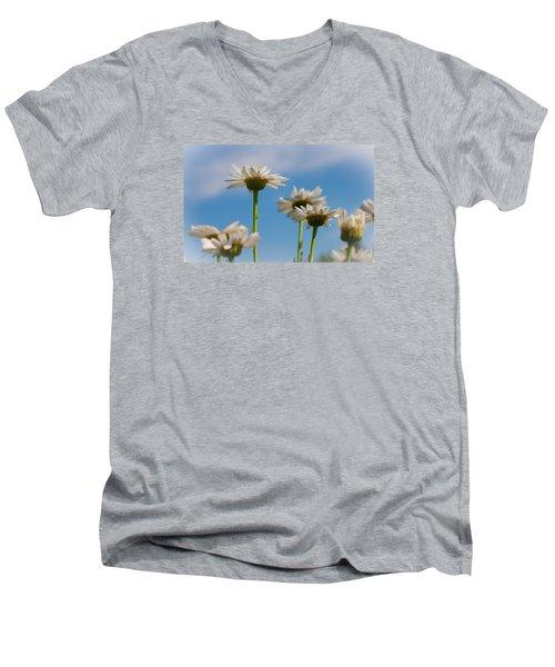 Coming Up Daisies Men's V-Neck T-Shirt by Christina Lihani