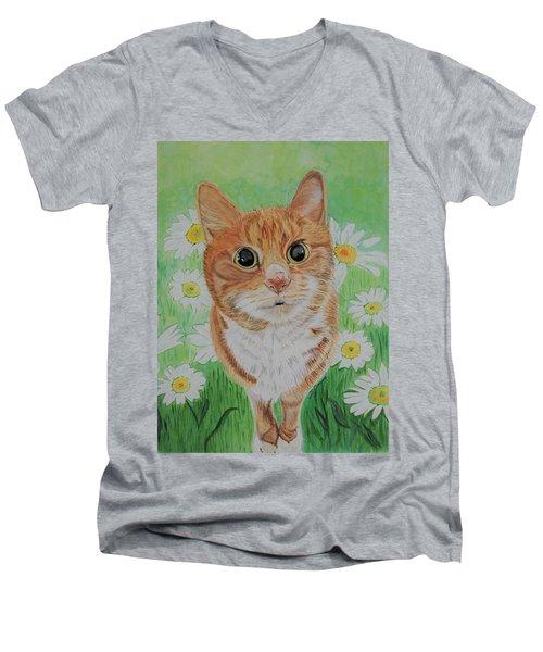 Coming Up Daisies Men's V-Neck T-Shirt