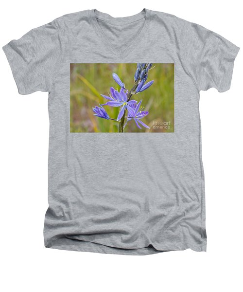 Men's V-Neck T-Shirt featuring the photograph Common Camas by Sean Griffin