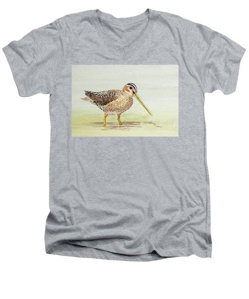 Common Snipe Wading Men's V-Neck T-Shirt