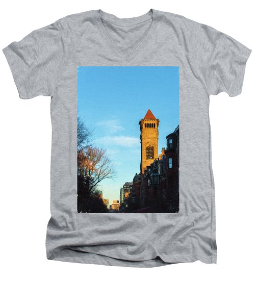 Commonwealth Avenue In Boston Men's V-Neck T-Shirt