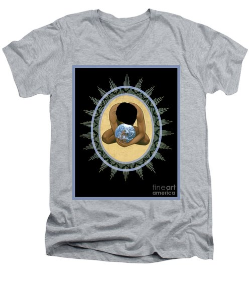 Compassion Mandala - Rlcmm Men's V-Neck T-Shirt