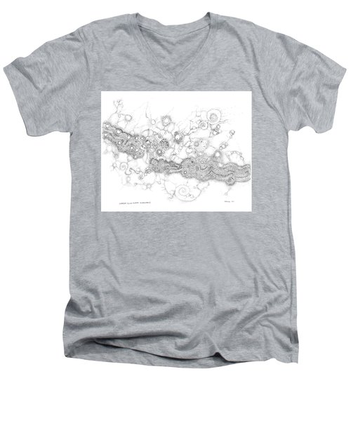 Complex Fluid  Men's V-Neck T-Shirt