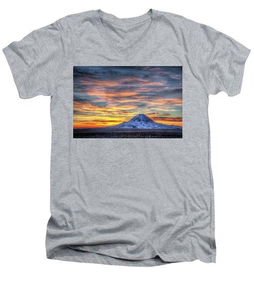 Complicated Sunrise Men's V-Neck T-Shirt by Fiskr Larsen