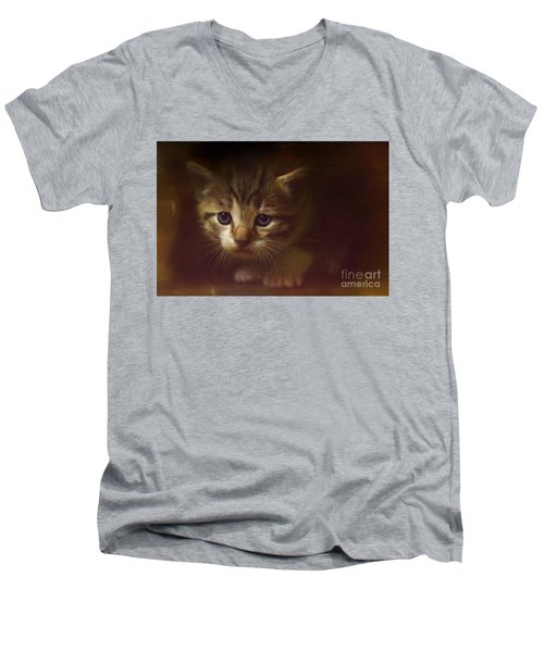 Concentration Men's V-Neck T-Shirt by Kathy Russell