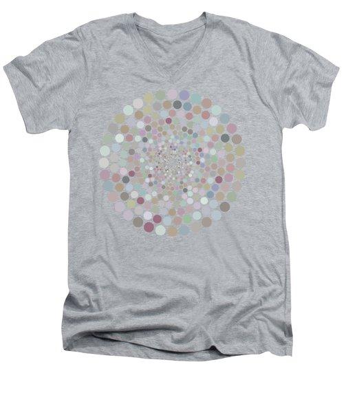 Vortex Circle - Gray Men's V-Neck T-Shirt