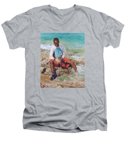 Conch Boy II Men's V-Neck T-Shirt