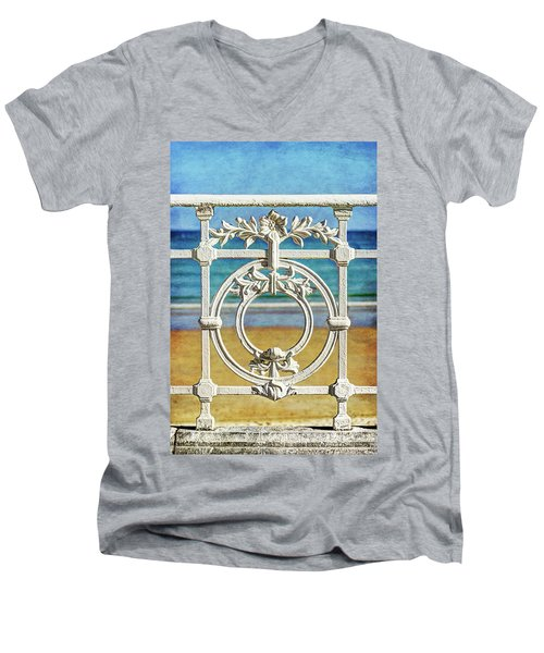 Concha Bay Railing In San Sebastian Men's V-Neck T-Shirt