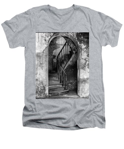 Concrete And Stairwell Men's V-Neck T-Shirt