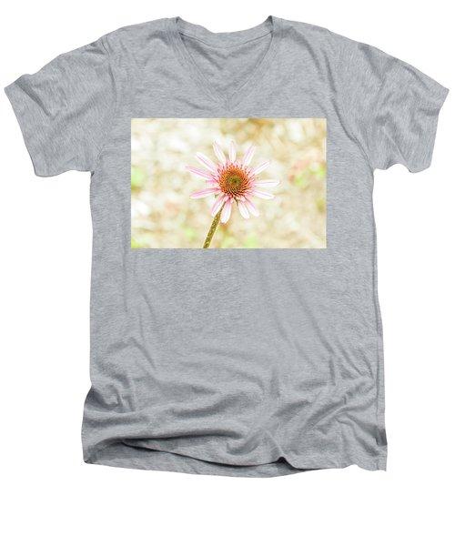 Cone Flower Men's V-Neck T-Shirt by Jay Stockhaus