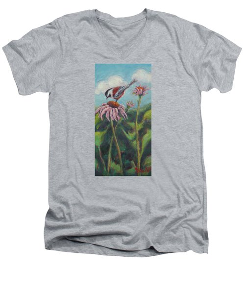 Coneflower Peep Men's V-Neck T-Shirt