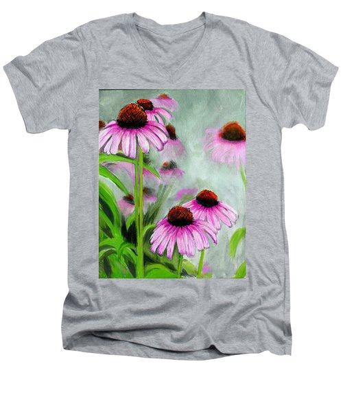 Coneflowers In The Mist Men's V-Neck T-Shirt