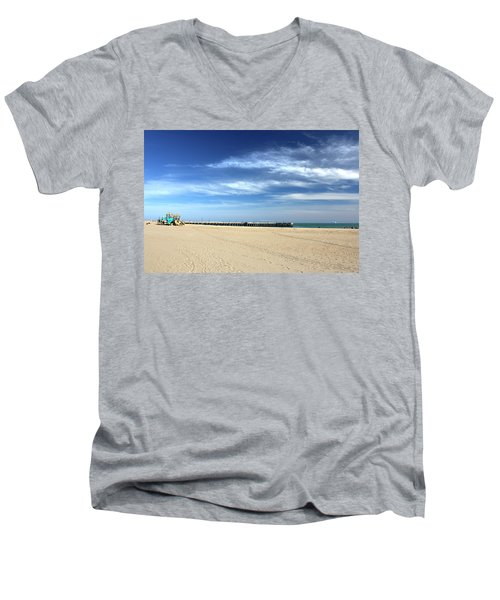 Coney Island Beach Men's V-Neck T-Shirt