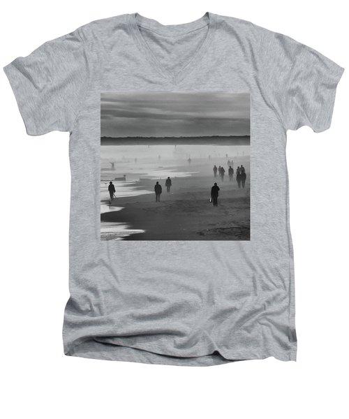 Coney Island Walkers Men's V-Neck T-Shirt