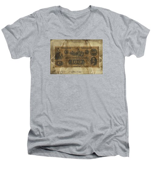 Confederate Mississippi $100 Note Men's V-Neck T-Shirt