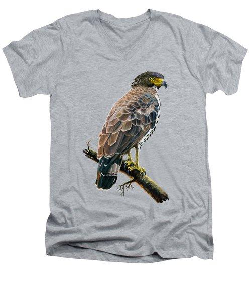 Congo Serpent Eagle Men's V-Neck T-Shirt by Anthony Mwangi