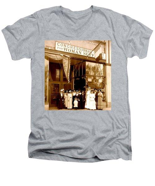 Congressional Union For Woman Suffrage Colorado Headquarters 1914 Men's V-Neck T-Shirt