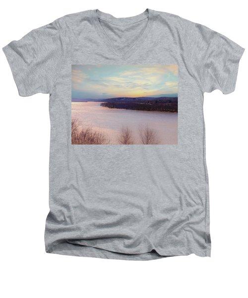 Connecticut River View From Gillette Castle. Men's V-Neck T-Shirt