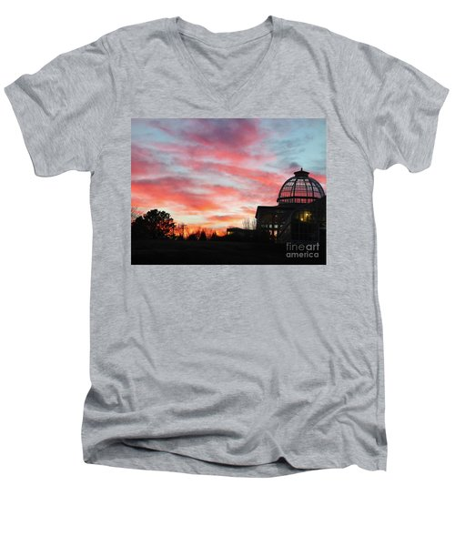 Conservatory At Sunset Men's V-Neck T-Shirt