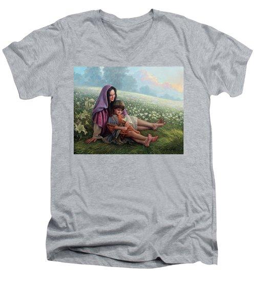 Consider The Lilies Men's V-Neck T-Shirt