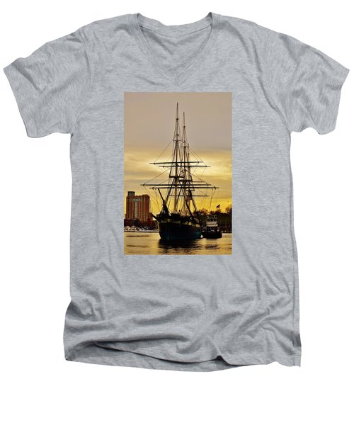 Constellation Gold Men's V-Neck T-Shirt by William Bartholomew
