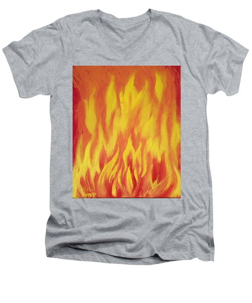 Consuming Fire Men's V-Neck T-Shirt by Antonio Romero