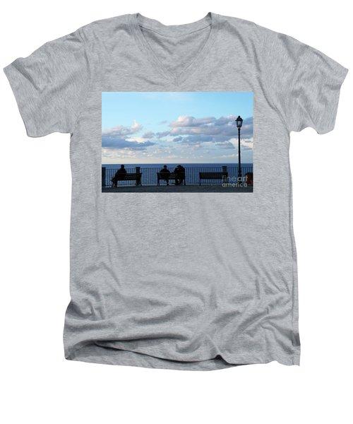Contemplation Men's V-Neck T-Shirt by Ana Mireles