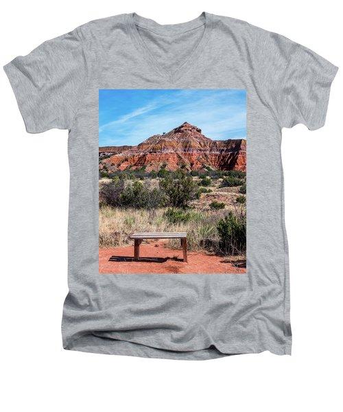 Contemplation Bench Men's V-Neck T-Shirt