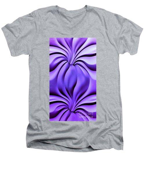 Contemplation In Purple Men's V-Neck T-Shirt