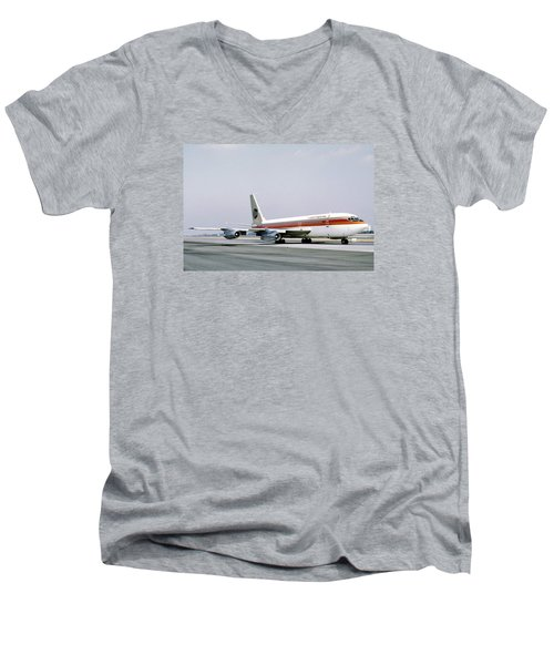 Continental Airlines 720-024b N17207 Los Angeles July 22 1972 Men's V-Neck T-Shirt