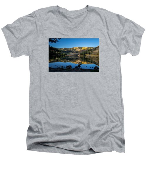 Contract Lake Fall Morning Men's V-Neck T-Shirt