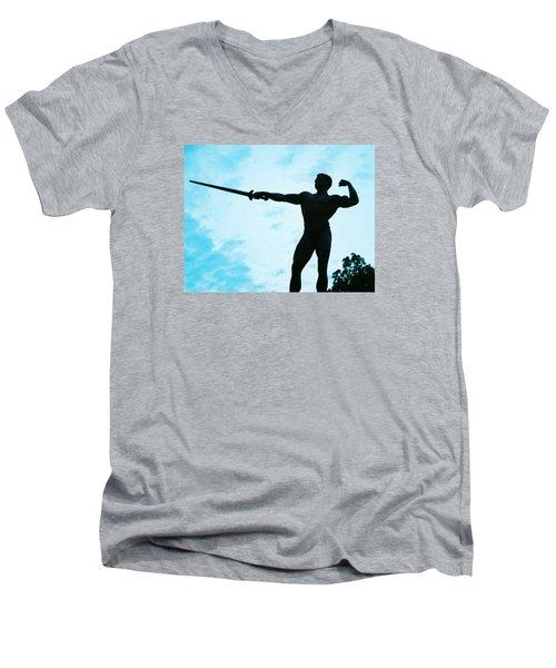 Contrast Men's V-Neck T-Shirt by Jake Hartz