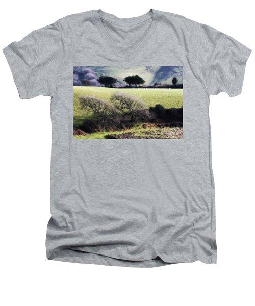 Contrast Of Trees Men's V-Neck T-Shirt by Gary Bridger