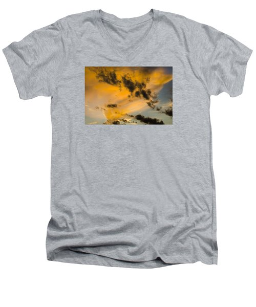 Men's V-Neck T-Shirt featuring the photograph Contrasts by Wanda Krack
