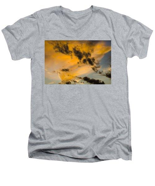 Contrasts Men's V-Neck T-Shirt
