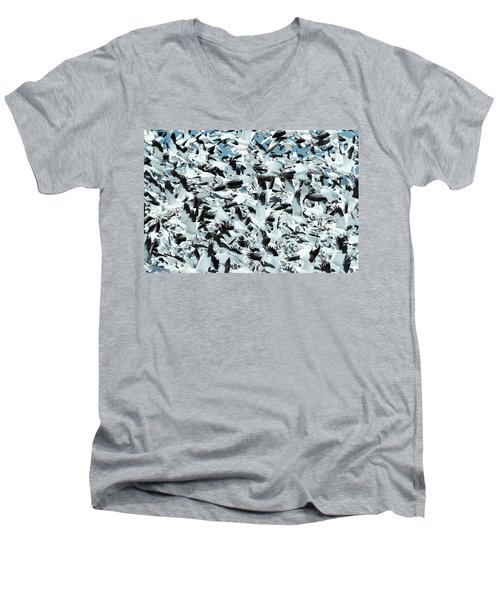 Men's V-Neck T-Shirt featuring the photograph Controlled Chaos by Everet Regal